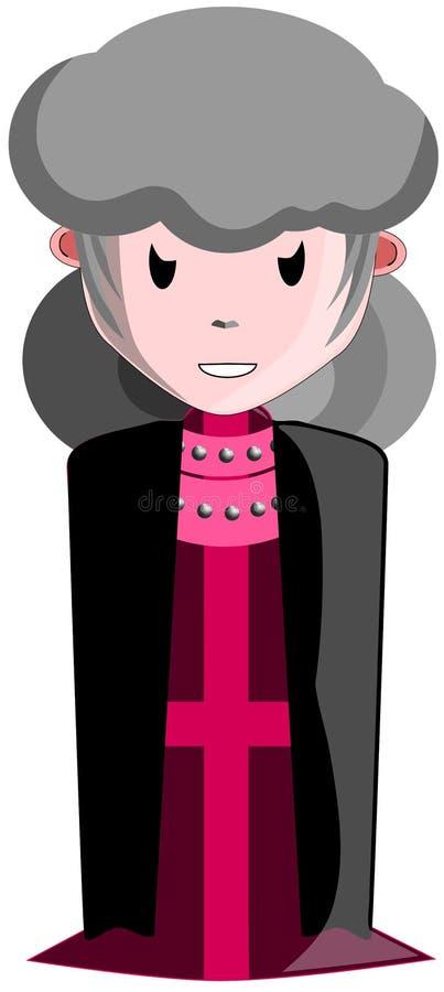 Sacerdote de sexo femenino de Lucifer stock de ilustración