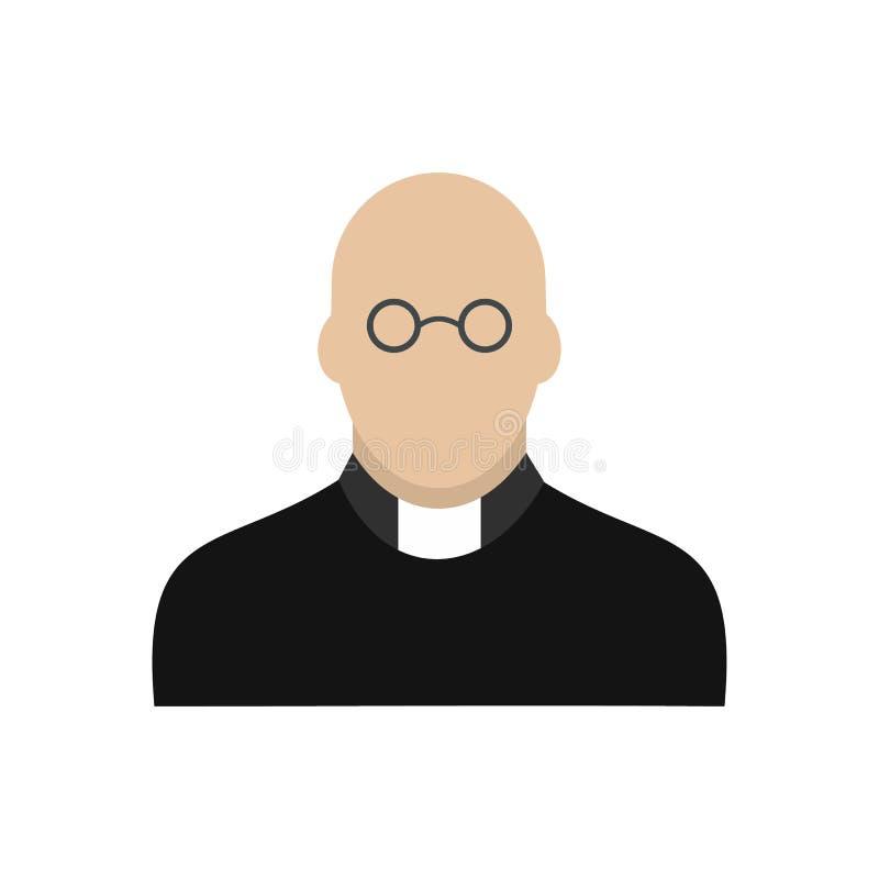 Sacerdote Icon Flat ilustración del vector