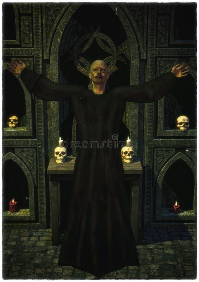 Sacerdote oscuro stock de ilustración