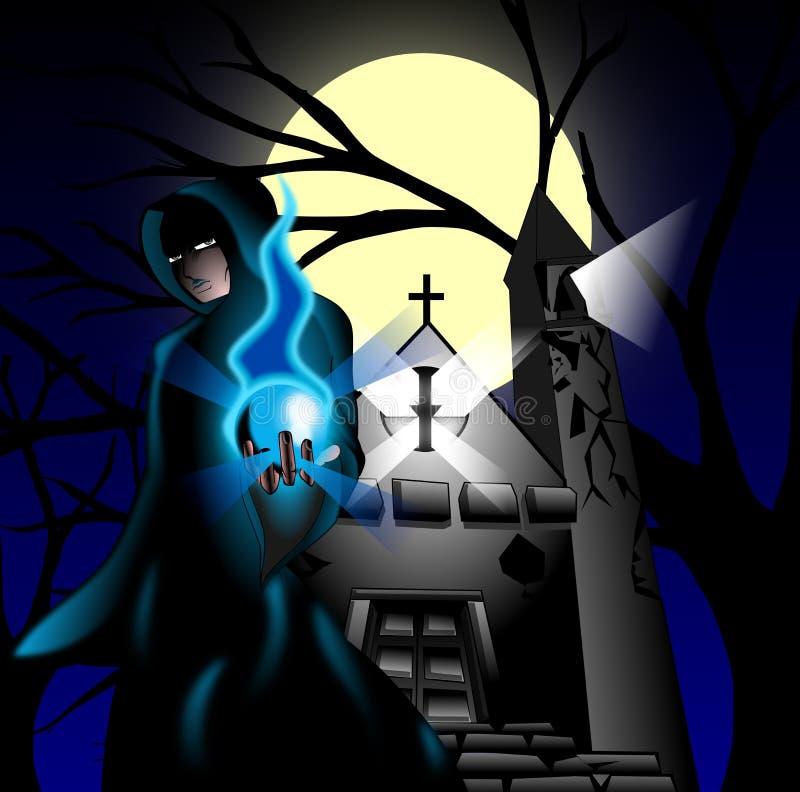 Sacerdote scuro illustrazione vettoriale