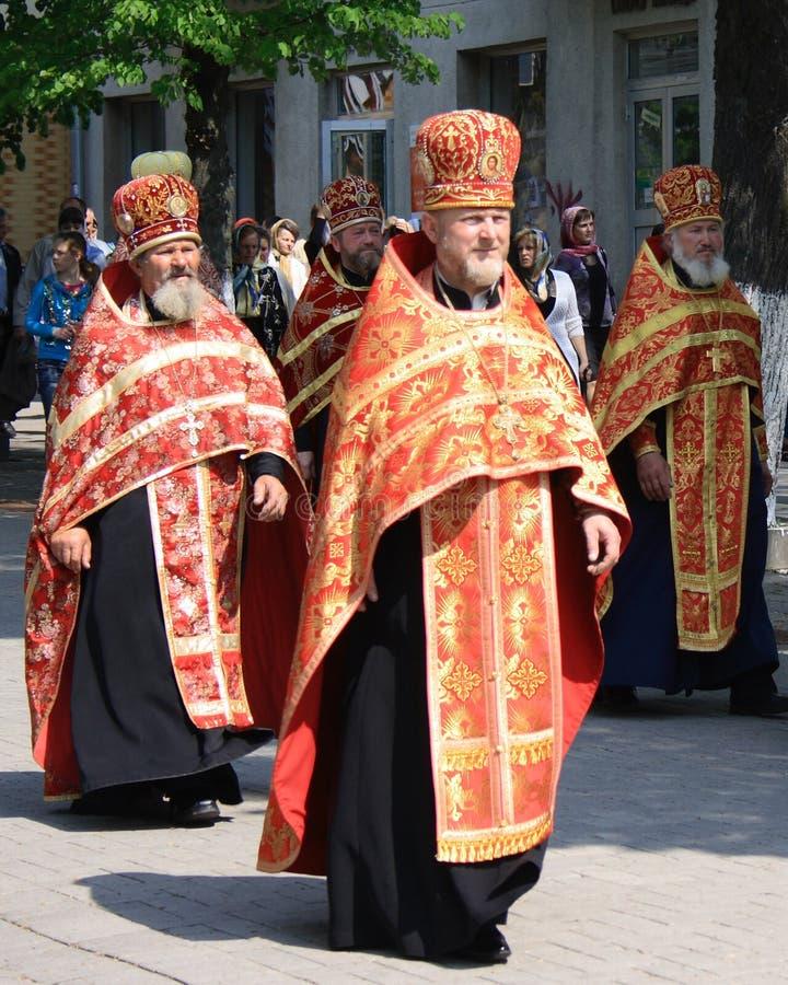 Sacerdotes ortodoxos foto de archivo libre de regalías