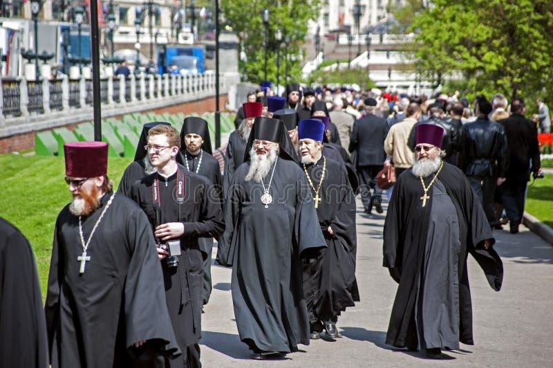 Sacerdotes ortodoxos fotografía de archivo