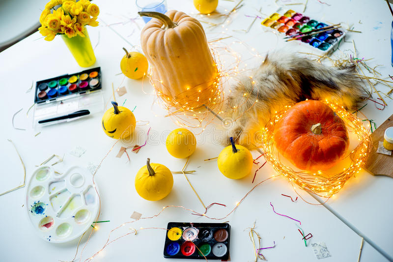 Sachen für Halloween lizenzfreies stockfoto