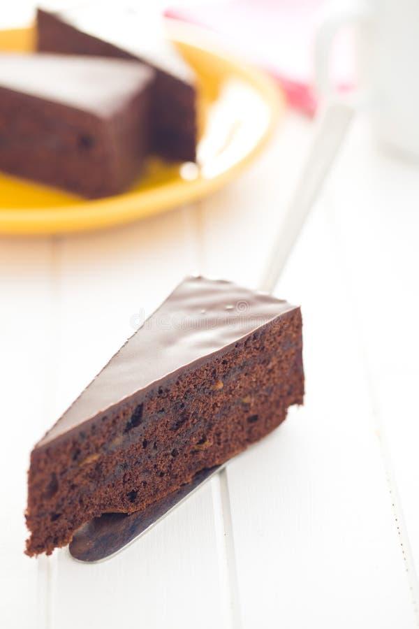 sacher蛋糕一件  库存照片