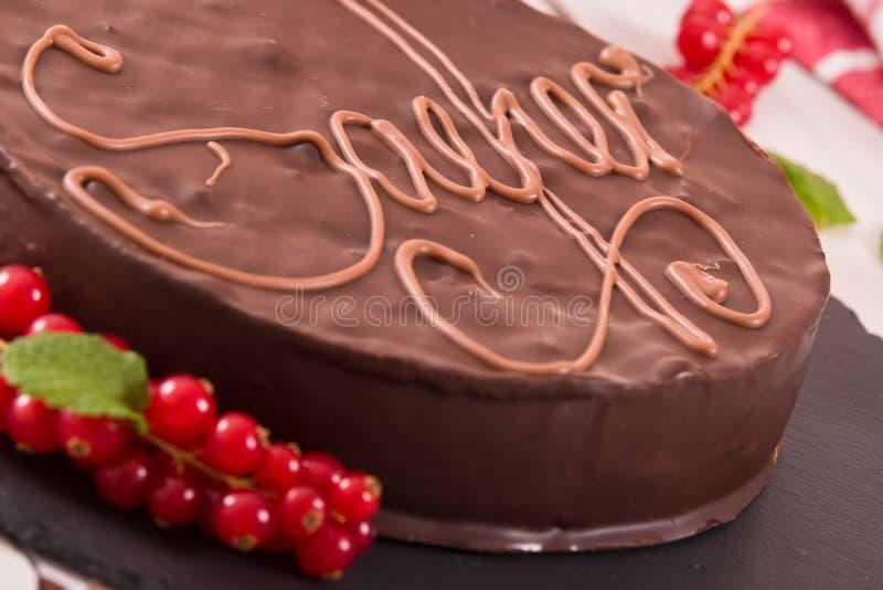 Sacher torte royaltyfri fotografi