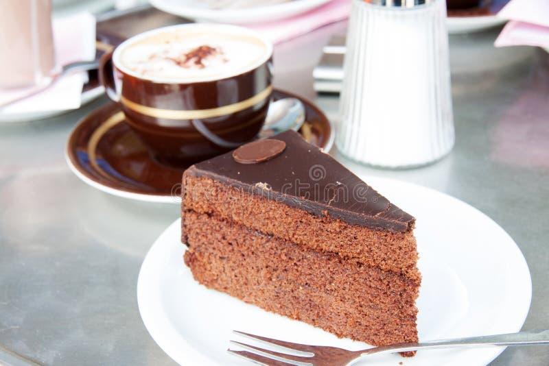 Sacher torte royaltyfri bild