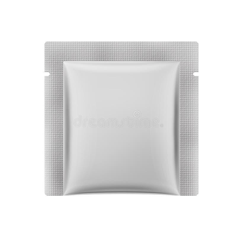 Sachet carré mat blanc Illustration du vecteur 3d illustration de vecteur