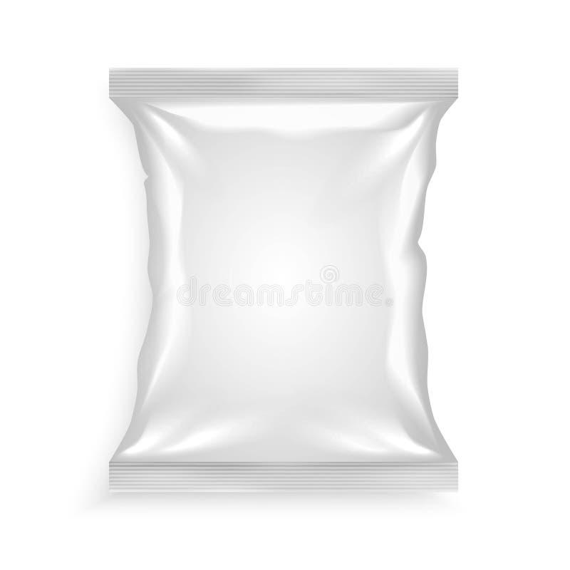 Sachet en plastique blanc illustration libre de droits