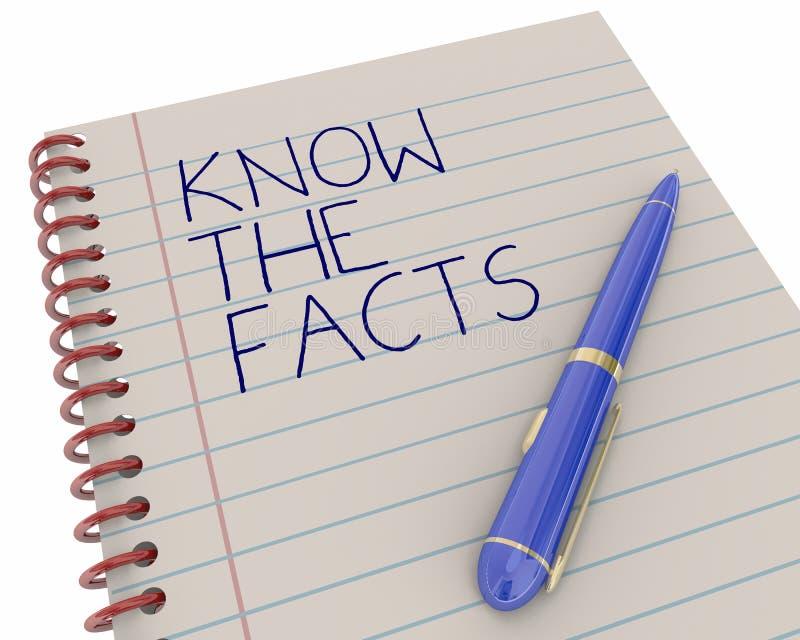 Sachez que l'information de recherches de faits apprennent le stylo illustration de vecteur