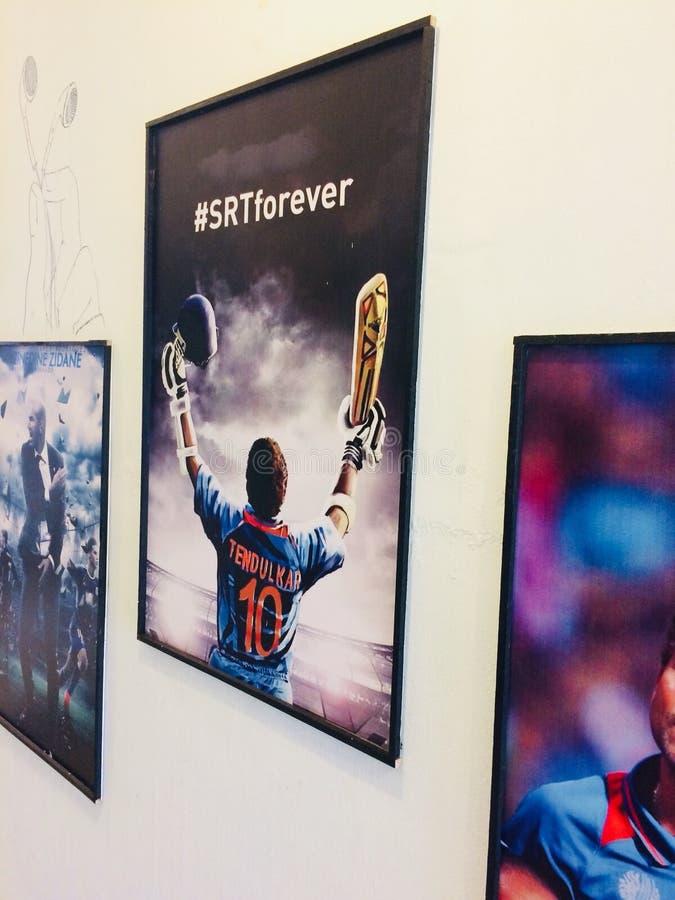 Sachin Dio reale del cricket fotografie stock