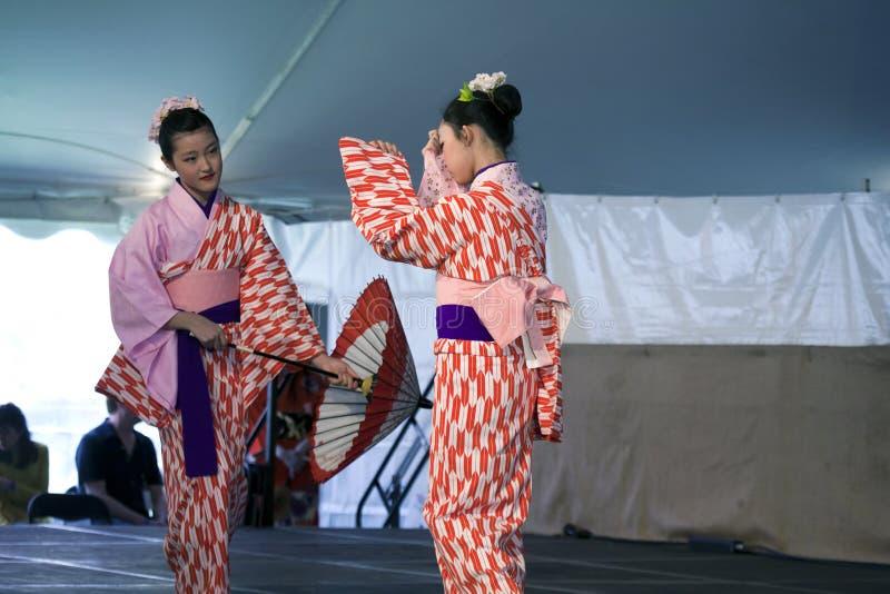Sachiyo Ito Dance Company au jardin botanique de Brooklyn image libre de droits