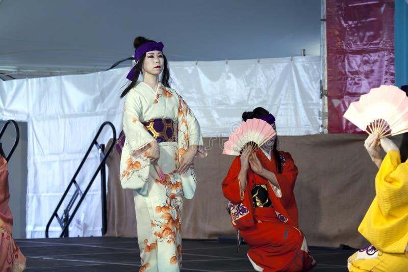 Sachiyo Ito Dance Company au jardin botanique de Brooklyn photo stock