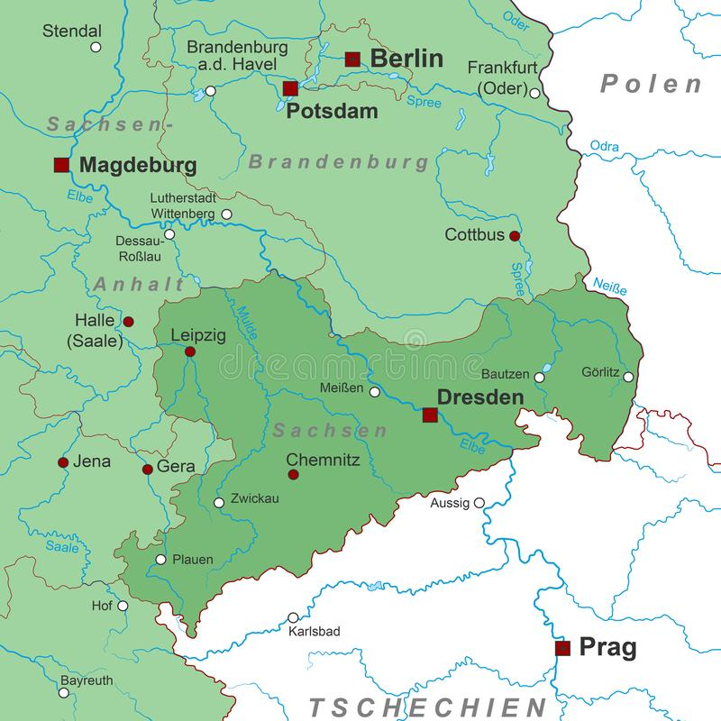 East West Germany Map Stock Illustrations – 743 East West ...