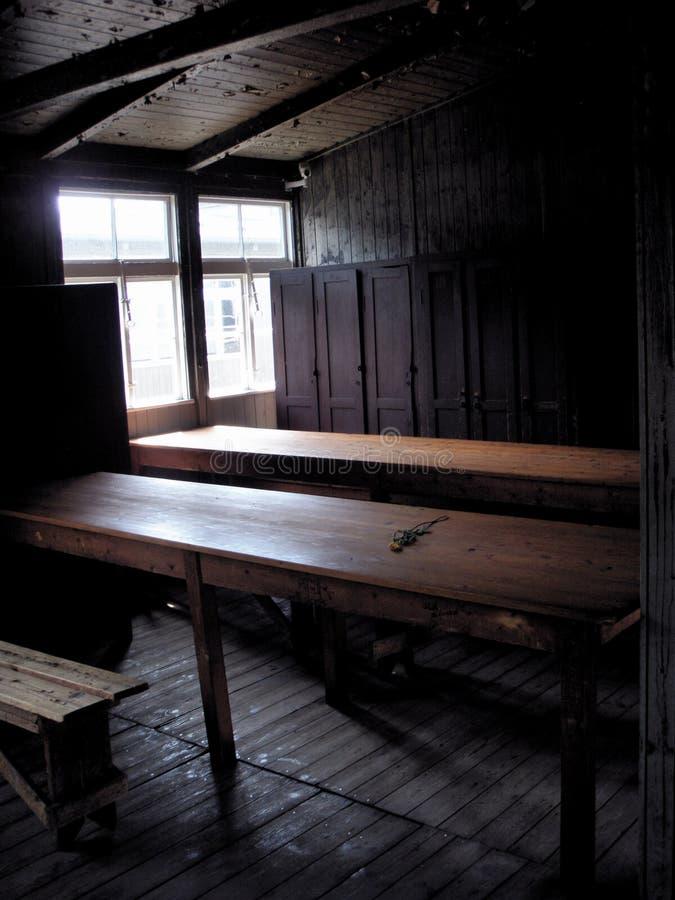 Sachsenhausen concentration camp - Holocaust stock photo