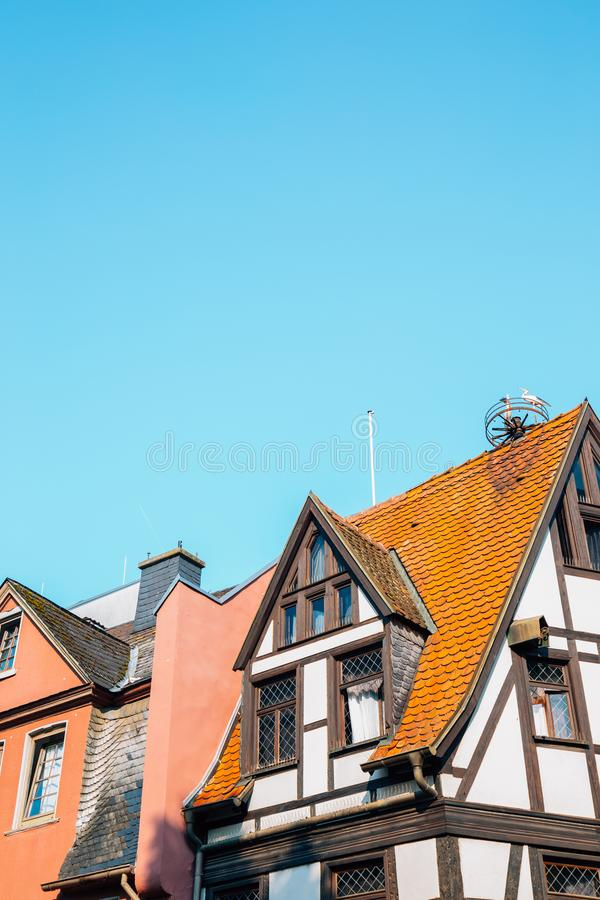 Sachsenhausen old town house in Frankfurt, Germany. Europe stock images