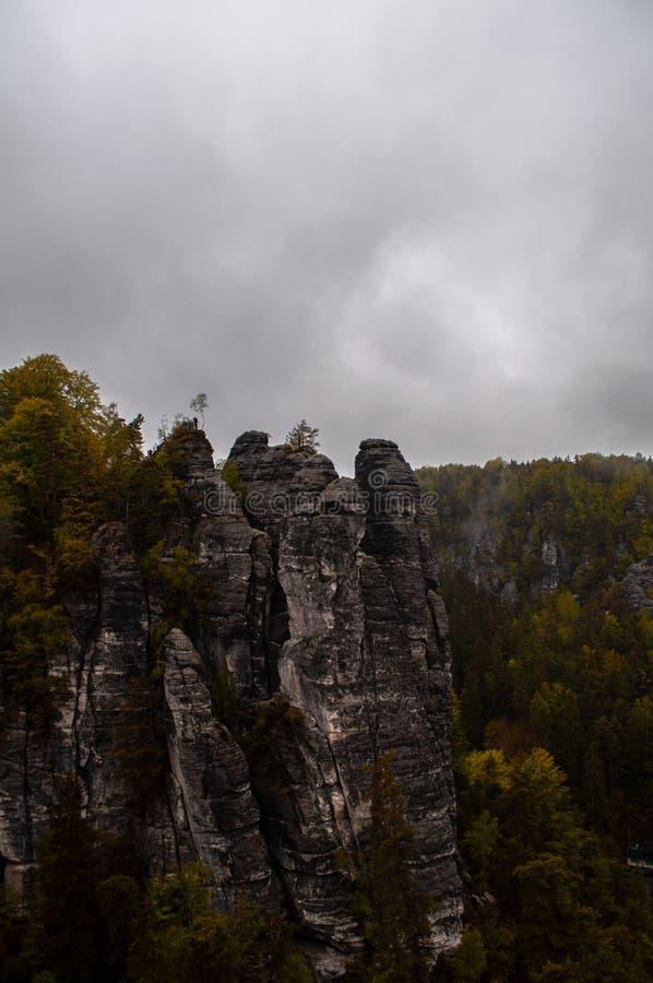 Sachsische Schweiz royaltyfria foton