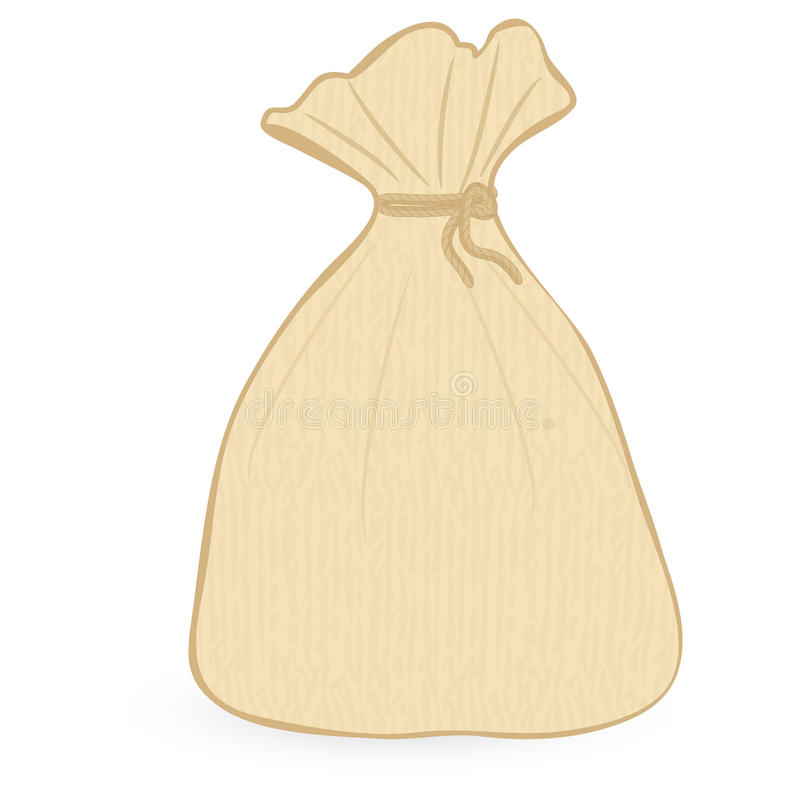 Sack. Isolated on an white background vector illustration