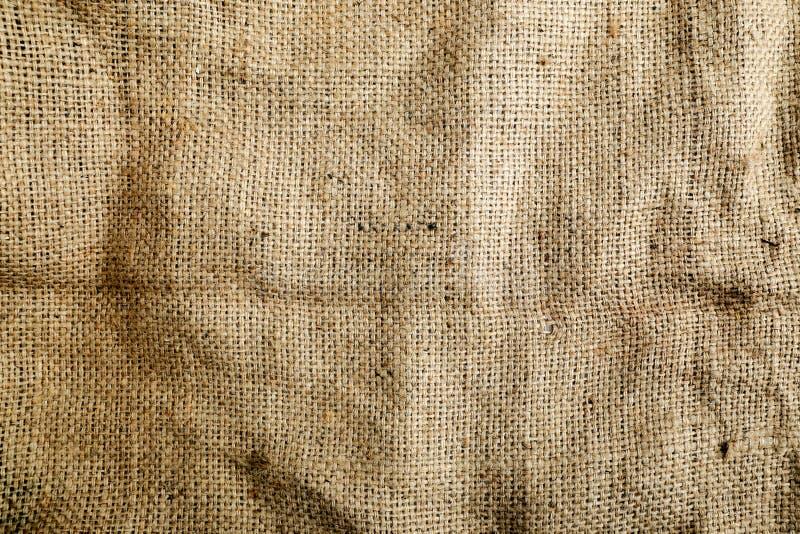 Sack-Beschaffenheits-Hintergrund Brown, gesponnen lizenzfreies stockbild
