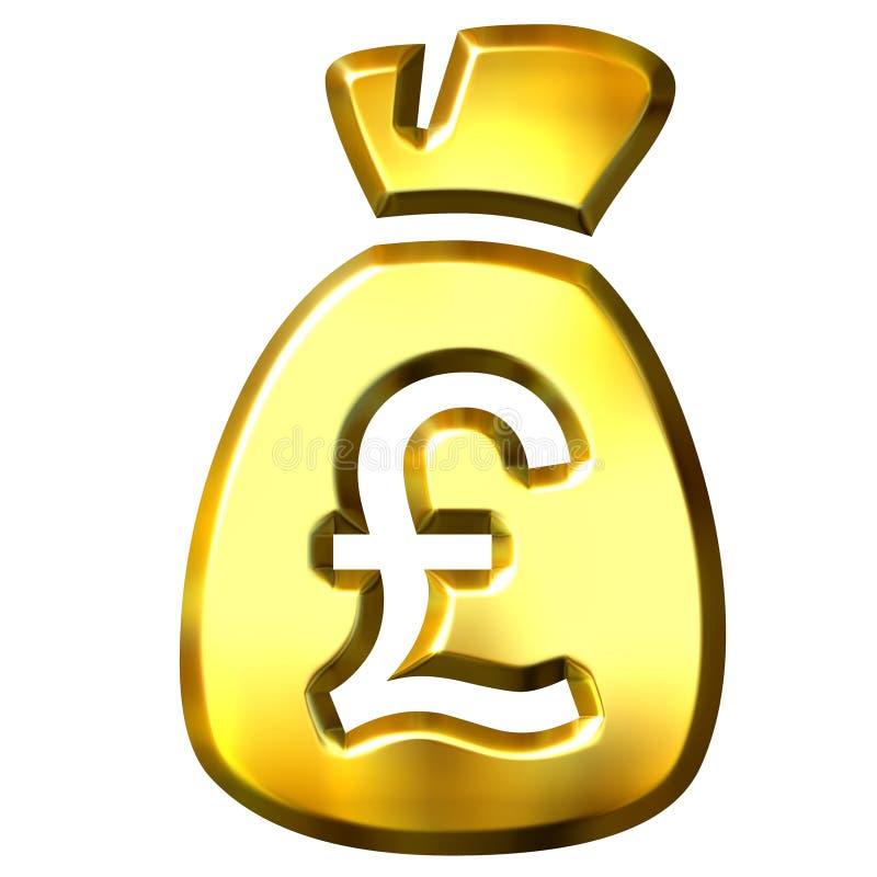 Sack full of British pounds vector illustration