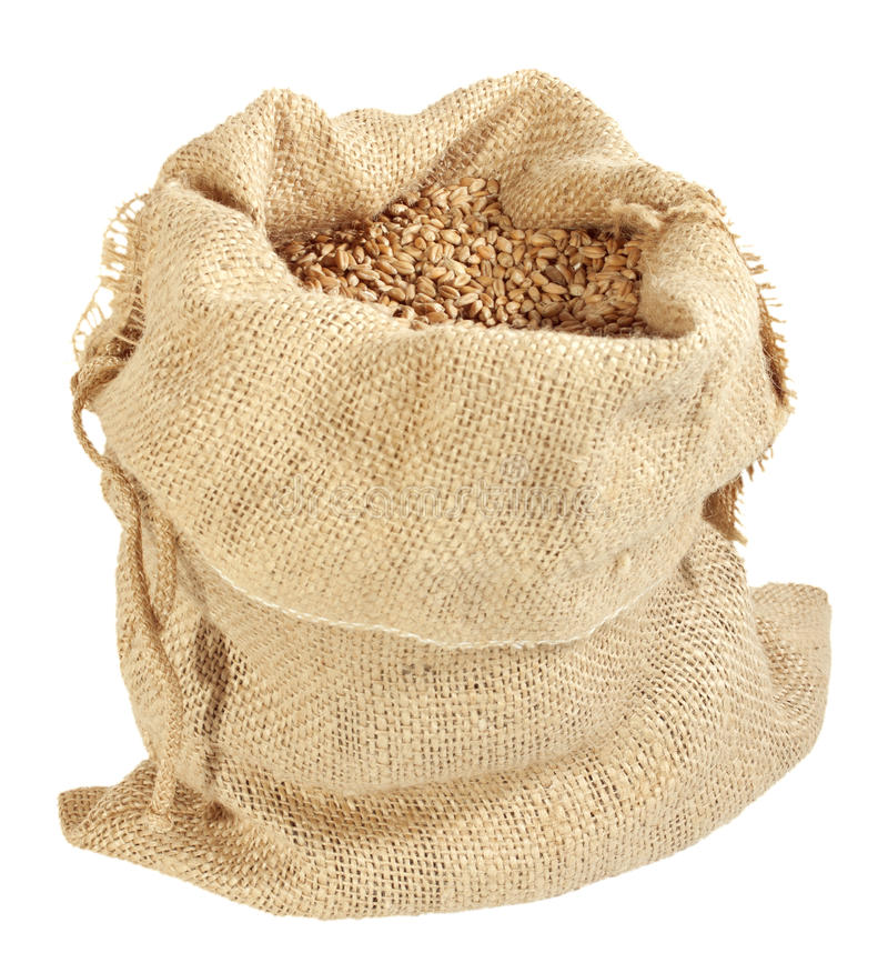 A sack of grain royalty free stock images