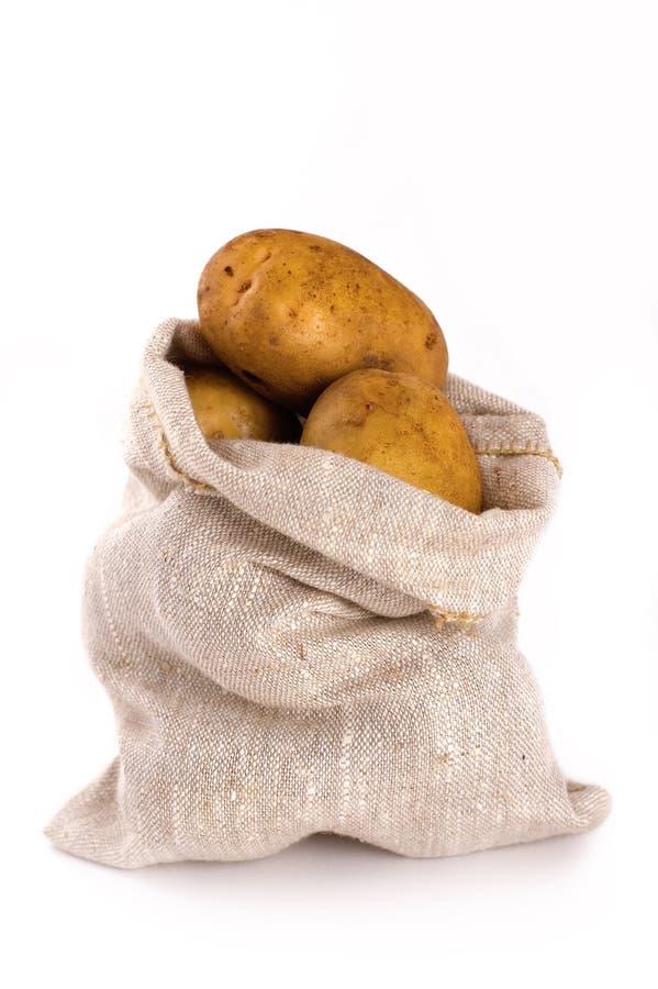 Sack of potatoes royalty free stock photos