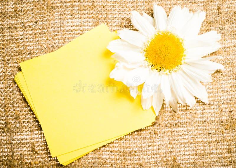 sackcloth λουλουδιών αυτοκόλ&la στοκ φωτογραφίες