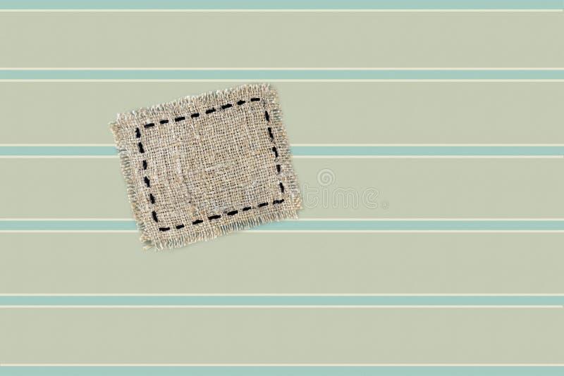 sackcloth μπάλωμα ετικετών ελεύθερη απεικόνιση δικαιώματος