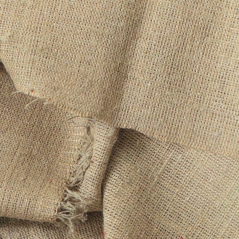 Sackcloth ρυτίδων, ύφασμα λινού, υλικό, τσάντα, που υφαίνεται στοκ εικόνες με δικαίωμα ελεύθερης χρήσης