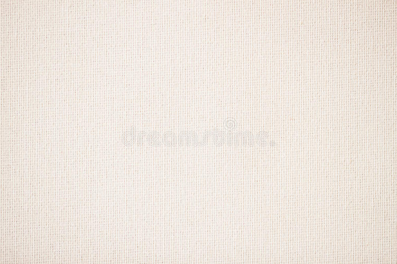 Sackcloth, canvas, fabric, jute, texture pattern for background. Cream soft color. stock image