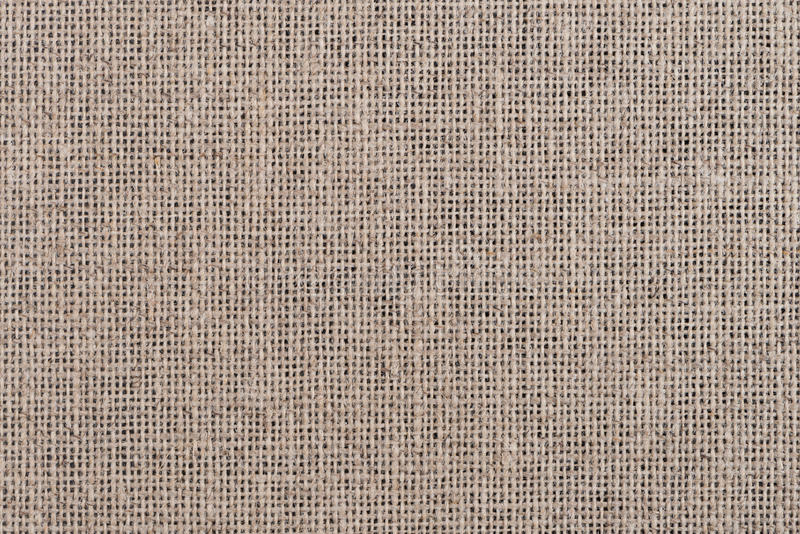 Sackcloth material. Isolated on white background royalty free stock image