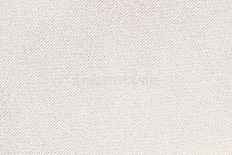 Sackleinen, Segeltuch, Gewebe, Jutefaser, Beschaffenheitsmuster für Hintergrund Weiche Sahnefarbe Kleine Diagonale stockfotografie