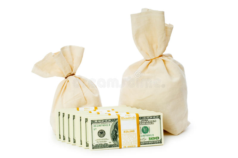 Download Sacks Of Money Isolated Stock Photos - Image: 11722803