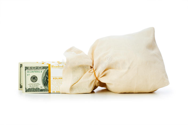 Download Sacks of money isolated stock photo. Image of debt, canvas - 13107000