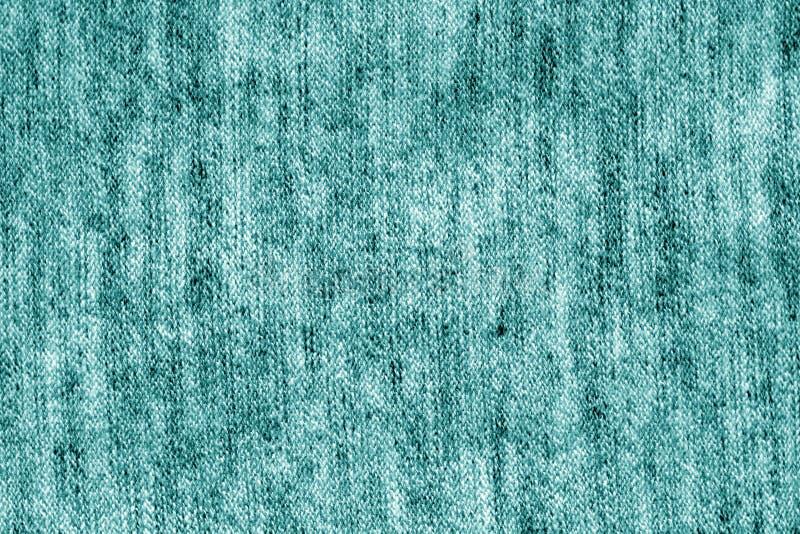 Sackstoffbeschaffenheit in der cyan-blauen Farbe lizenzfreies stockfoto