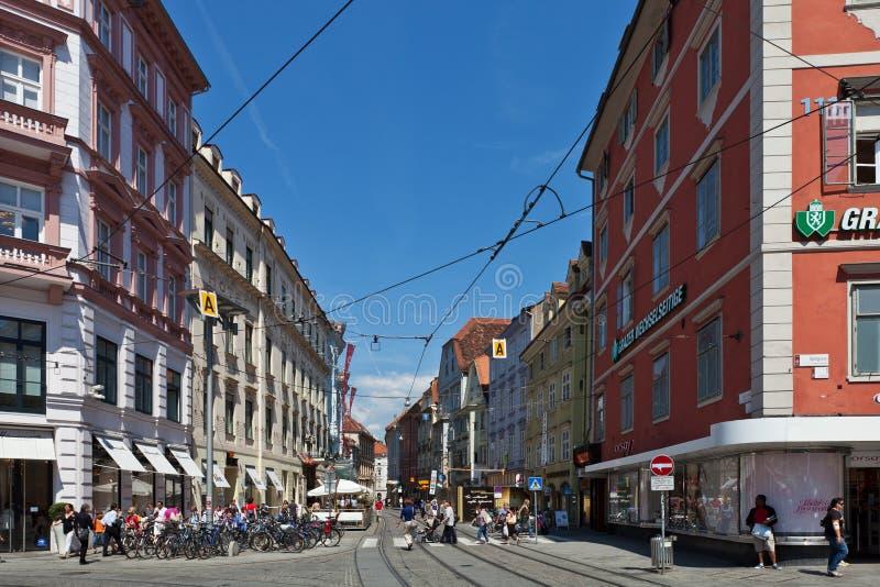 Sackstrasse, sur Hauptplatz, Graz, Autriche photo libre de droits