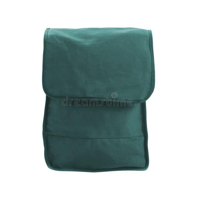 Saco azul do bolso no branco imagens de stock royalty free