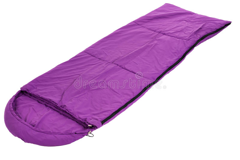 Saco-cama isolado em um fundo branco imagem de stock