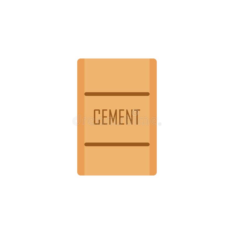 saco colorido da ilustração do cimento Elemento de ferramentas da construção para apps móveis do conceito e da Web Saco detalhado ilustração stock
