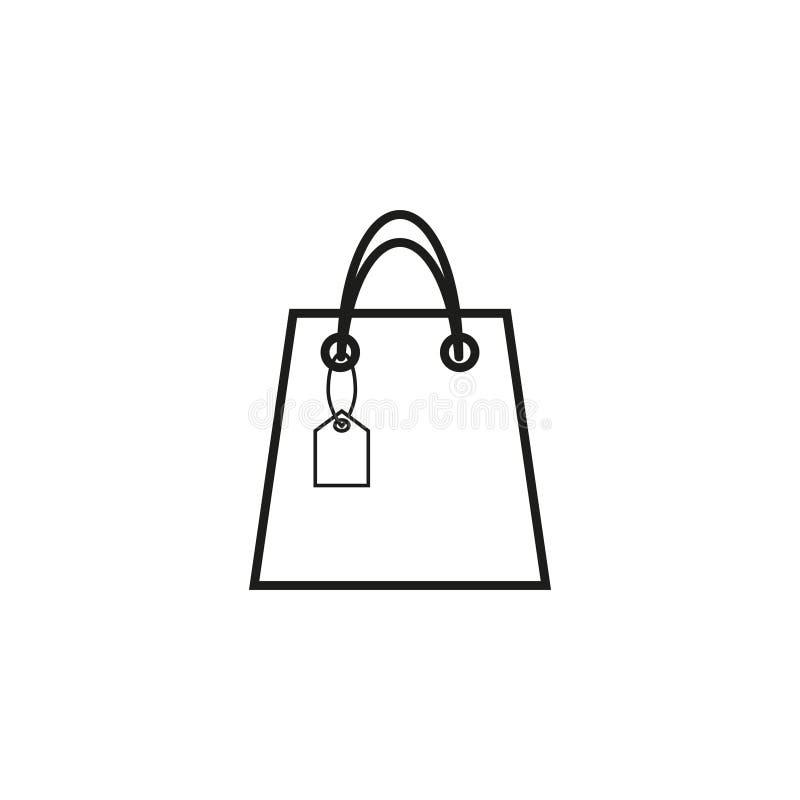 Saco com ícone da venda ilustração do vetor