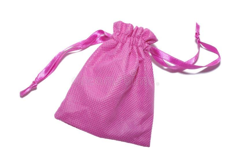 Saco cor-de-rosa para presentes fotografia de stock