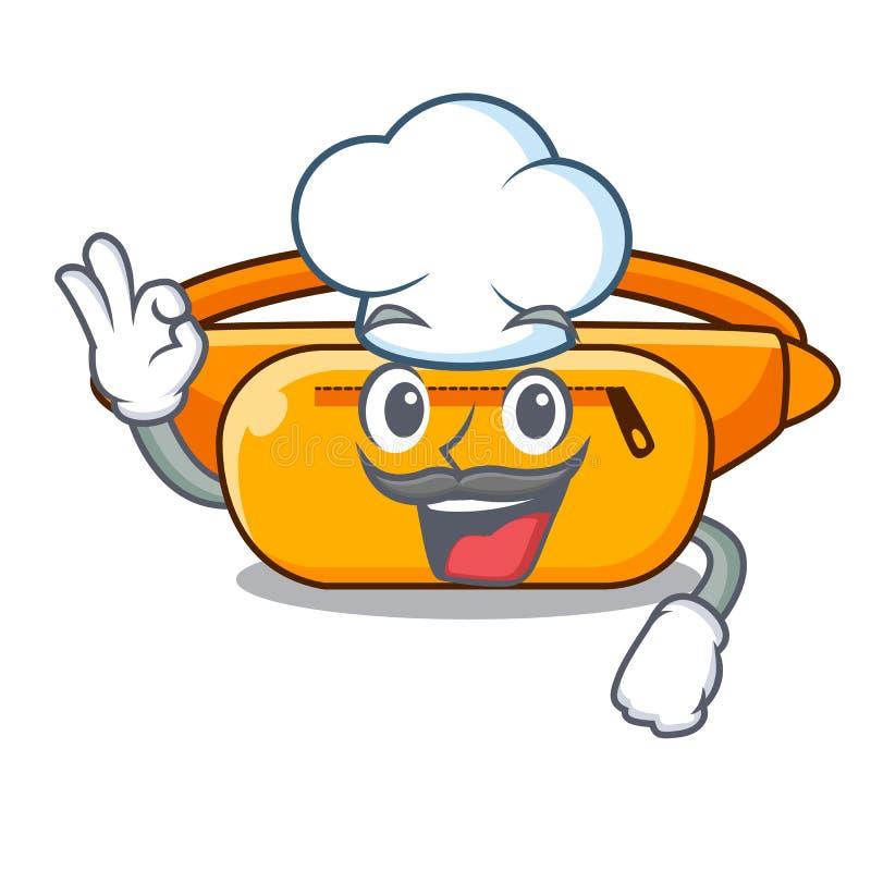 Saco da cintura do cozinheiro chefe na mascote da forma ilustração stock