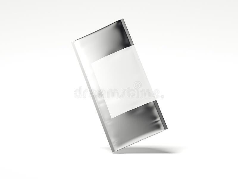 Saco da folha com espaço vazio para anunciar rendição 3d ilustração stock