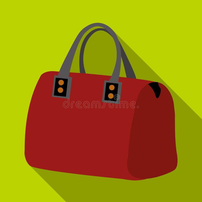 saco da senhora s com punhos Artigos do acessório das senhoras A mulher veste o único ícone no estoque liso do símbolo do vetor d ilustração do vetor