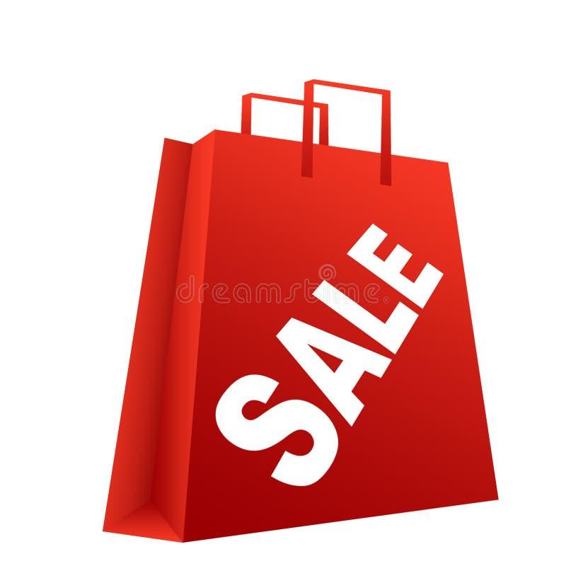 Saco da venda da compra ilustração do vetor