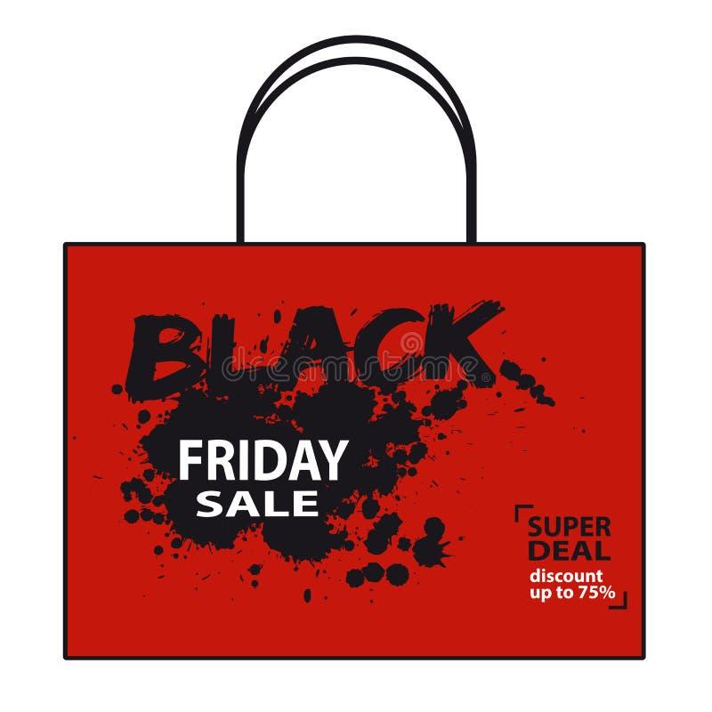 Saco da venda de Black Friday - ilustração do vetor ilustração royalty free