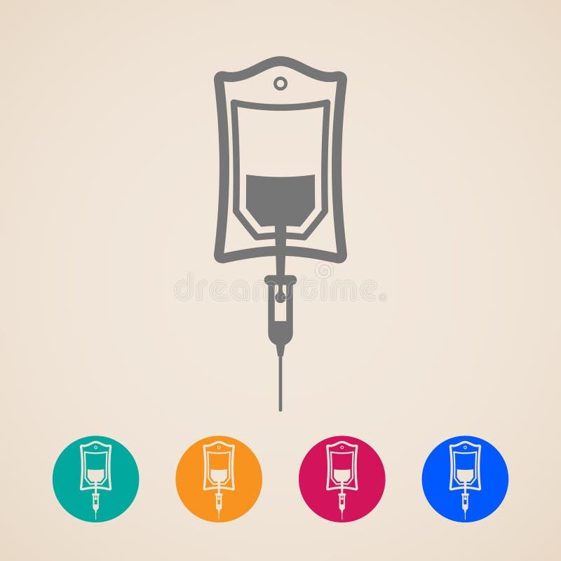 Saco de ícones do sangue ilustração royalty free