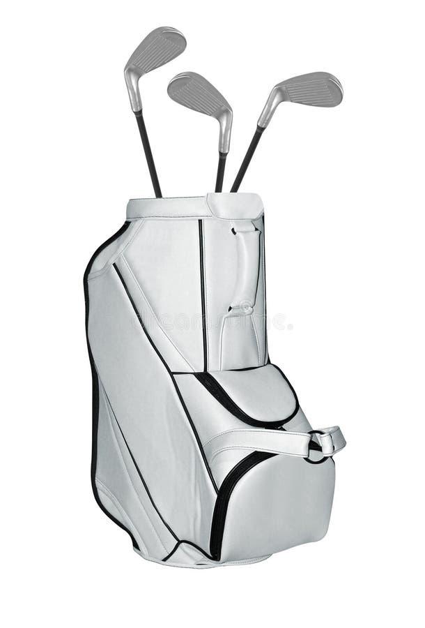 Saco de clubes do golfe isolado fotos de stock