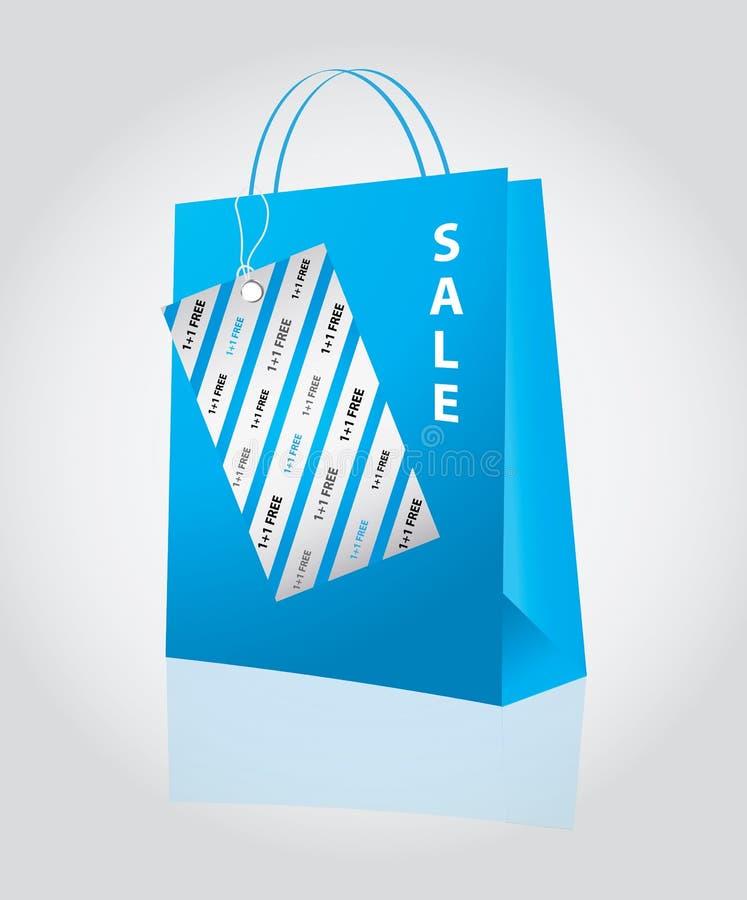 Saco de compra especial ilustração stock