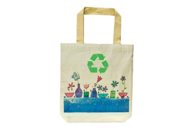 Saco De Compra Feito Fora Dos Materiais Recicl Fotografia de Stock Royalty Free