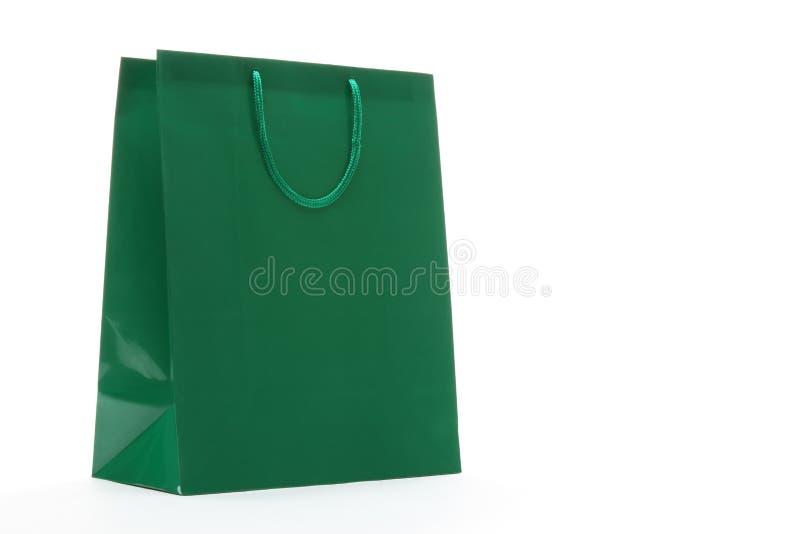 Saco de compra verde foto de stock royalty free